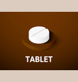 tablet isometric icon isolated on color vector image vector image