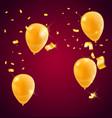 templates a celebration golden balloons vector image