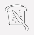 toast bread icon line element vector image