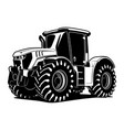 tractor bw 1 vector image