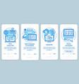 translation service blue onboarding mobile app vector image vector image
