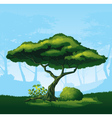 Tree with a curved crown vector image