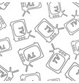 tv icon in line style seamless pattern background vector image vector image
