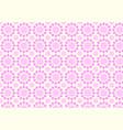 vintage modern pink flower pattern on pastel color vector image