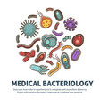 viruses bacteria and microbes poster for biology vector image vector image