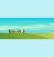 wide panorama italian landscape vector image vector image