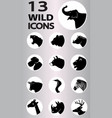 wild icons collection vector image vector image