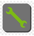 Wrench Rounded Square Button vector image