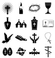 christianity icons set vector image