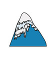 mountain peak symbol vector image