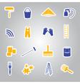paint stickers set eps10 vector image
