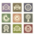 Seals icons set vector image