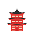 flat style of Japanese traditional building vector image
