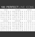180 modern thin line icons set of education vector image vector image