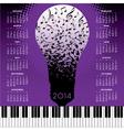 2014 Music Notes Bulb calendar vector image vector image
