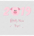 2019 new year card vector image vector image