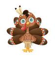 a cute cartoon turkey boy vector image