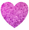 a pink valentine shape heart with light and deep vector image vector image