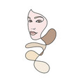 abstract female face 5 vector image vector image