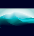 abstract gradient blue green ice mountain vector image vector image