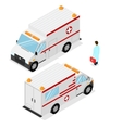 Ambulance Emergency Medical Car Isometric View vector image