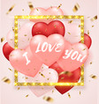 background for valentines day with balloons vector image vector image