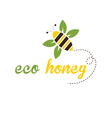 bee eco honey vector image vector image