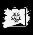 big sale 50 percent discount background with ink vector image vector image