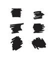 black brush template design vector image