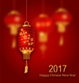 Blurred Background for Chinese New Year 2017 vector image vector image
