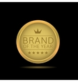 Brand of the year label vector image vector image