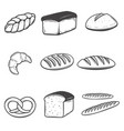 Bread icons isolated on white background design