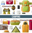 camping adventure poster for summer camp club or vector image vector image