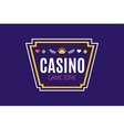 Casino logo icon poker cards or game and money vector image vector image