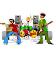 cheerful musical group vector image vector image