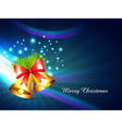 christmas bell design vector image vector image
