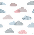 cute clouds seamless background vector image vector image