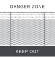 danger zone with fence vector image vector image
