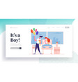 delivery childbirth landing page template happy vector image