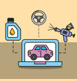 diagnostic technologic car service maintenance vector image vector image