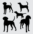 dog mammal animal silhouette vector image vector image