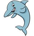 dolphin animal character cartoon vector image vector image
