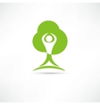 Eco man icon vector image vector image