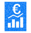 euro sale report grunge icon vector image