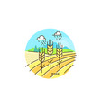 farming field flat in linear vector image vector image