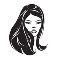 Fashion girl with a new hairstyle vector image