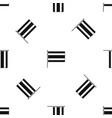 flag pattern seamless black vector image vector image