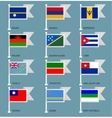 Flags set four-13 vector image vector image