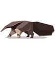 flat polygonal giant anteater vector image vector image