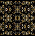 floral gold baroque seamless pattern vector image vector image